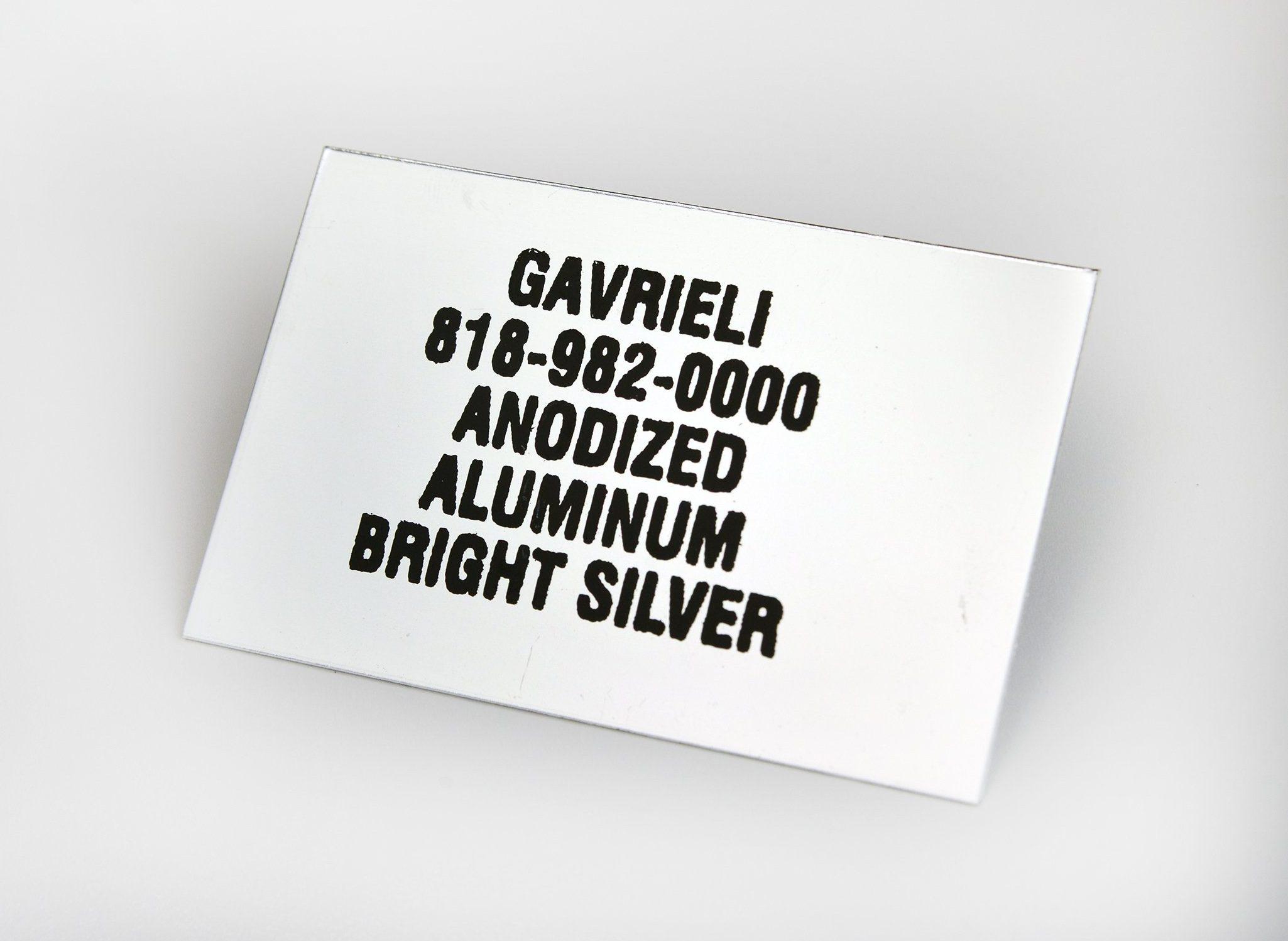 Anodized Aluminum Bright Silver
