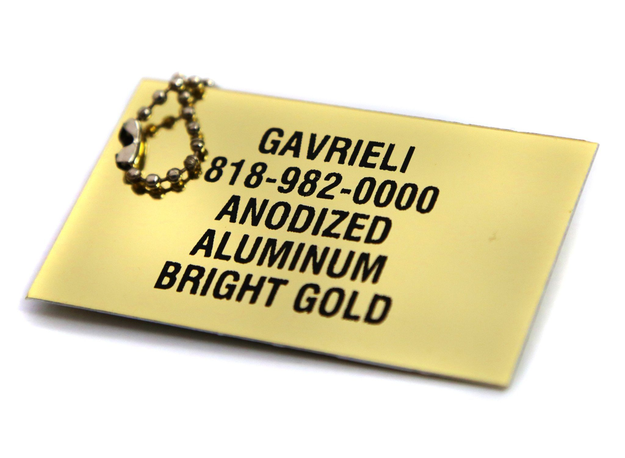 Anondized Aluminum Bright Gold